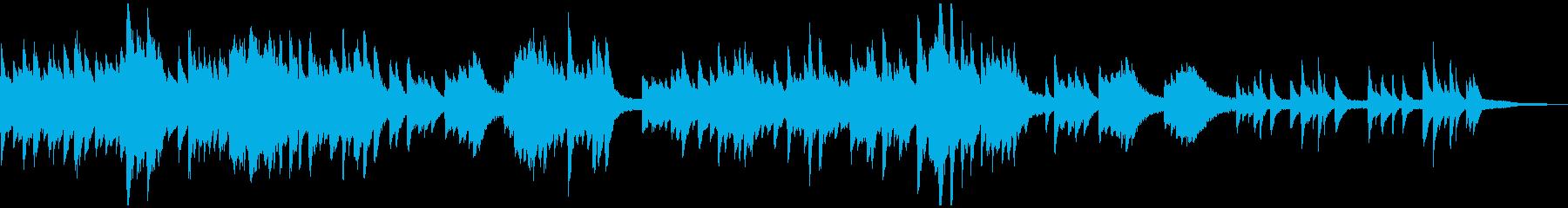 クリスマス・キャロルの感動的なソロピアノの再生済みの波形