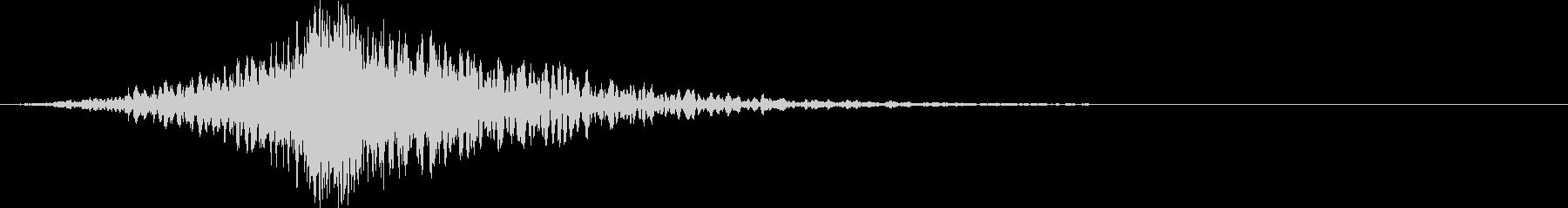 どーん:ハイブリット音:オープニング5の未再生の波形