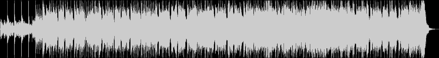 重低音が響くワイルドなロックの未再生の波形