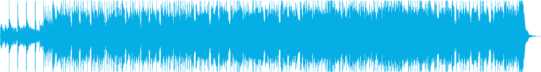 重低音が響くワイルドなロックの再生済みの波形