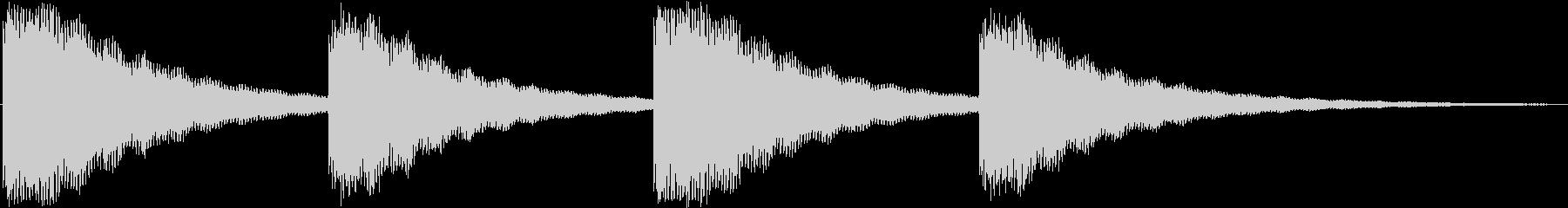 鐘の音でホラー系にも使えますの未再生の波形