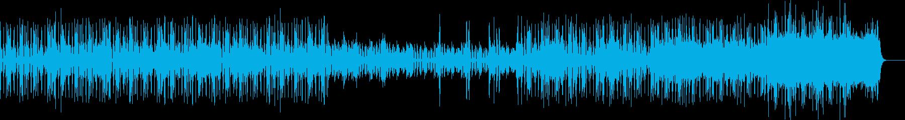 緊張感のあるミニマルロックの再生済みの波形