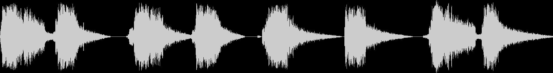刀の連続素振りの未再生の波形