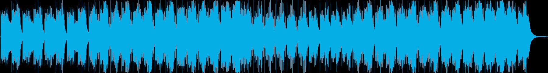 ロボット宇宙のようなシンセサイザーEDMの再生済みの波形