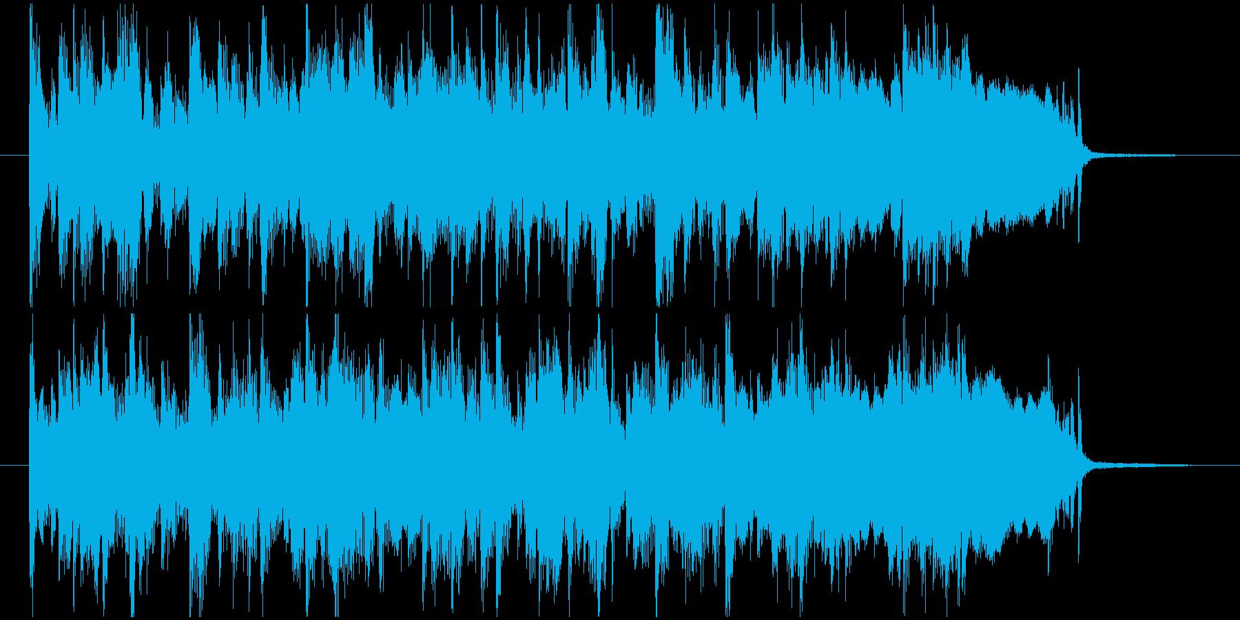 レトロなバンドサウンドのジングルの再生済みの波形