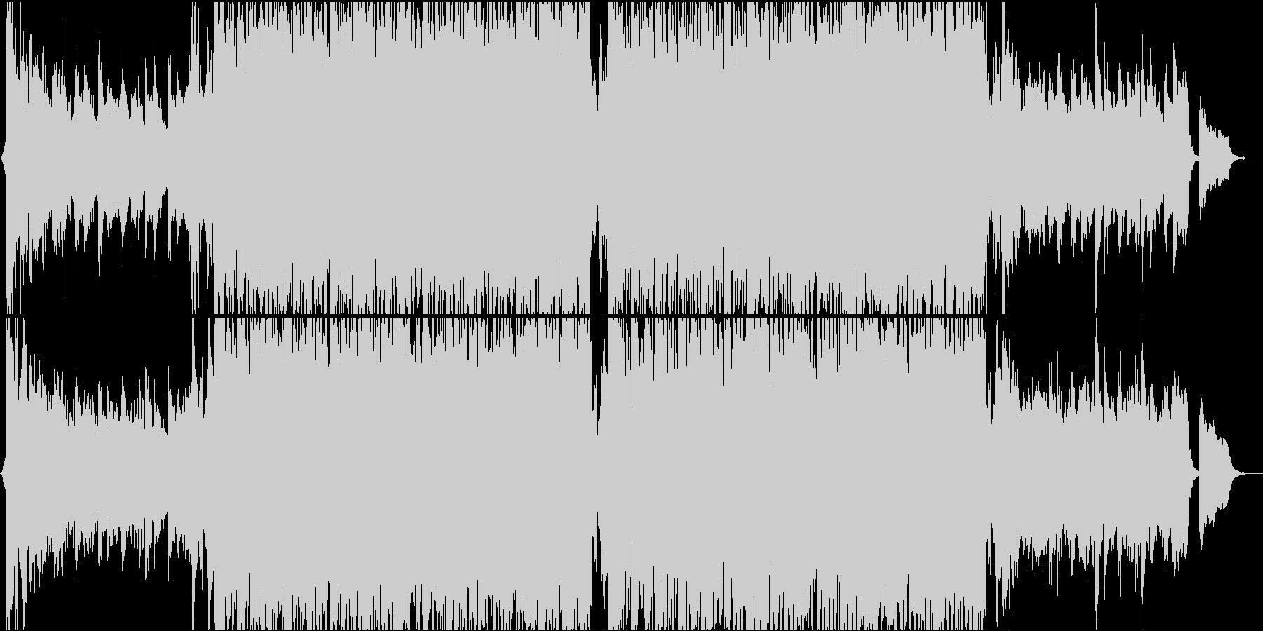 トレイラー風オーケストラ曲メロディックの未再生の波形