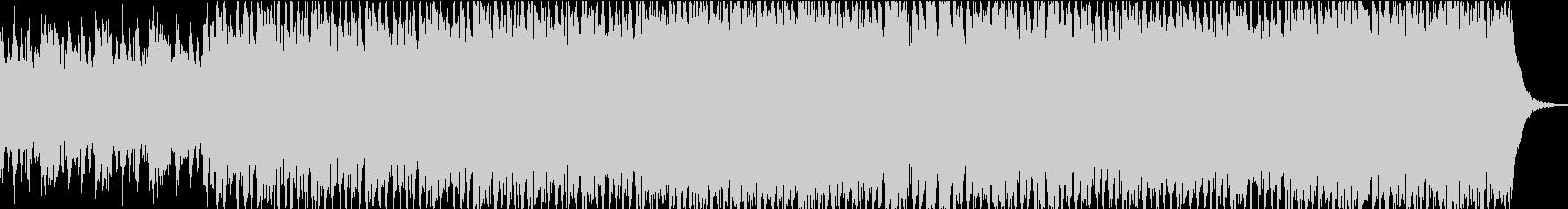 ヒリヒリするような昂ぶりのあるBGMの未再生の波形
