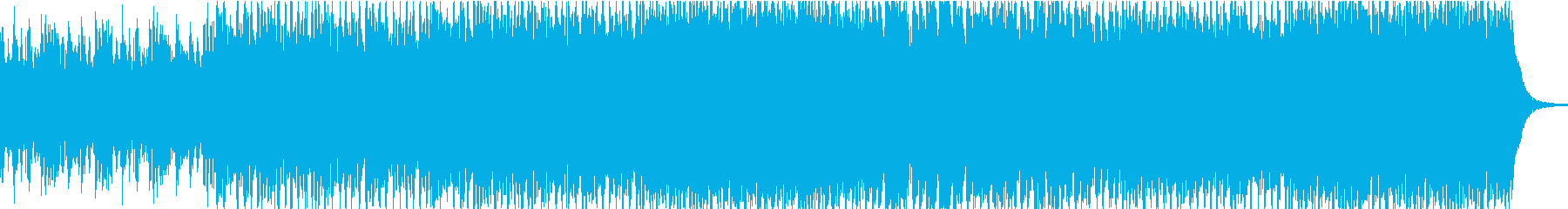 ヒリヒリするような昂ぶりのあるBGMの再生済みの波形