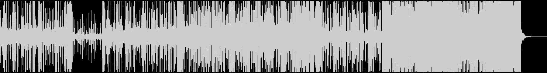 1分仕様 テクノ・ヒップホップの未再生の波形