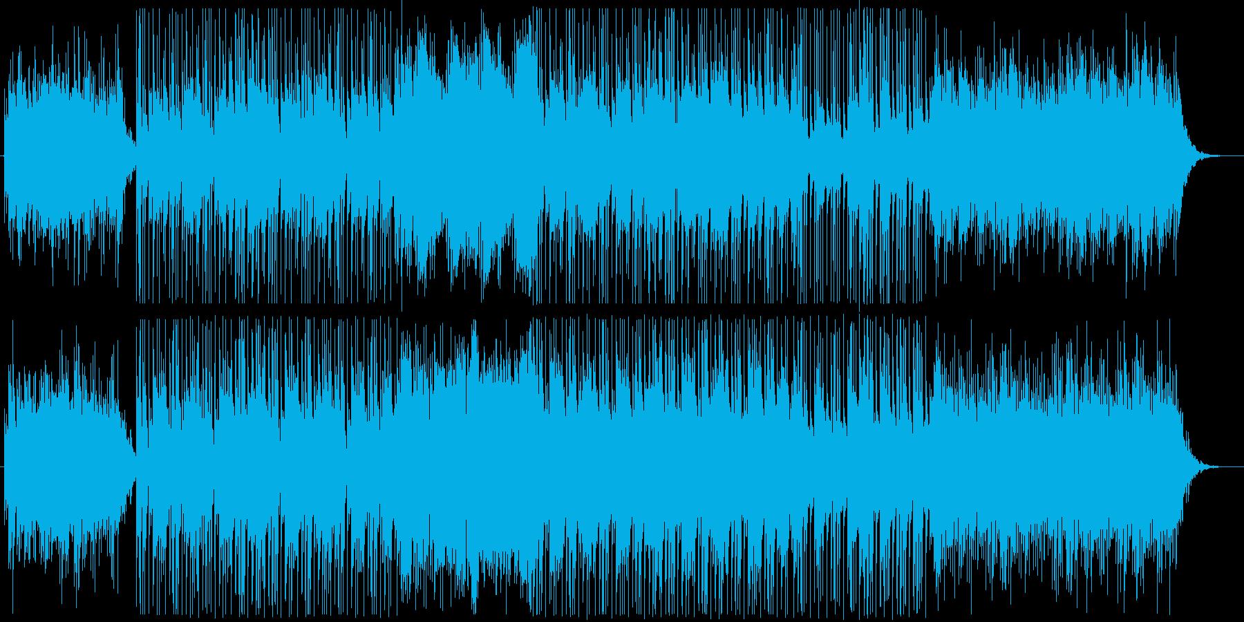 スローテンポのやさしいBGMの再生済みの波形