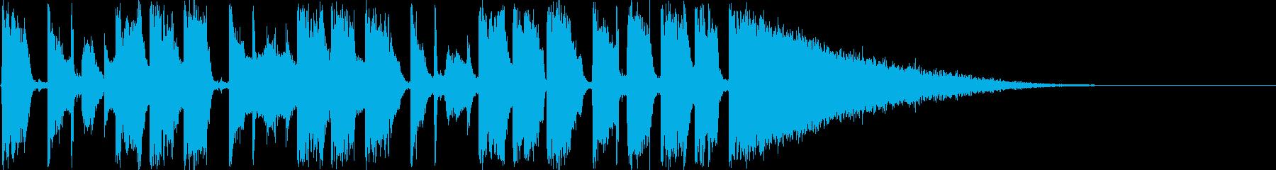 都会的でオシャレなラジオ系ジングルの再生済みの波形
