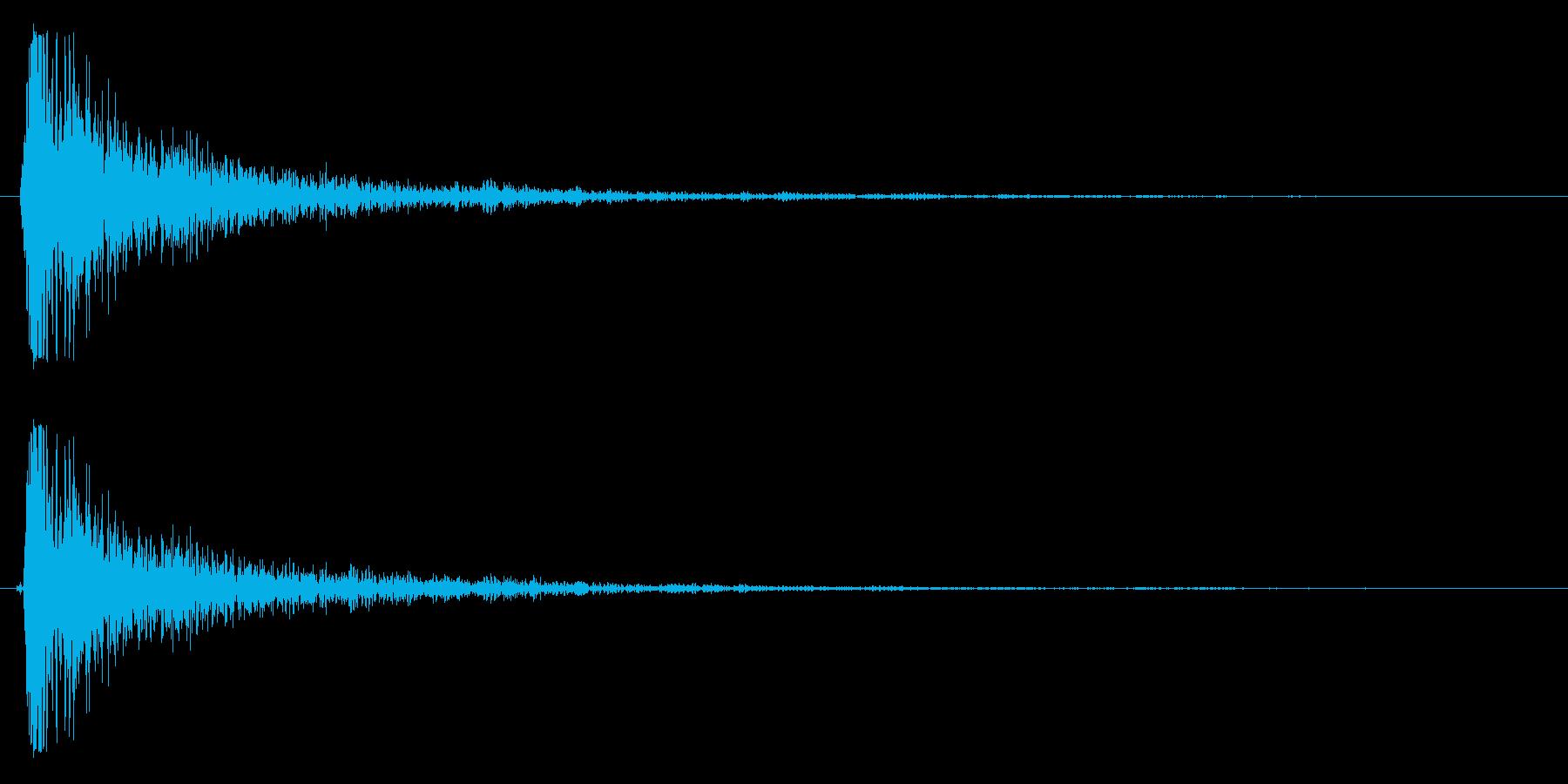 バシッ(強烈なビンタをする音)の再生済みの波形