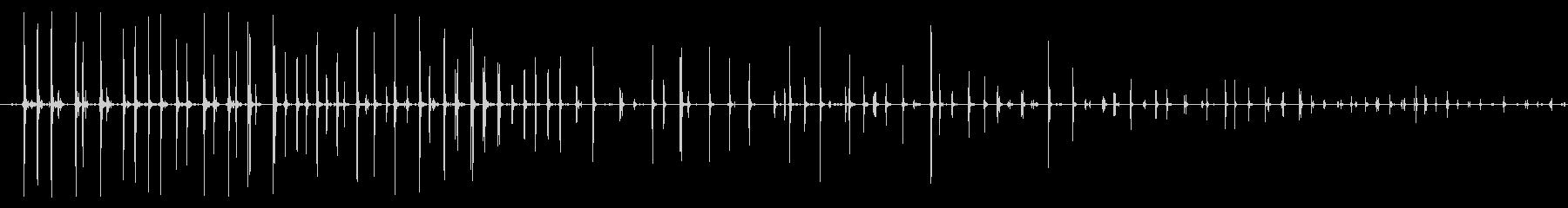 フォリー・フットステップ、重いオン...の未再生の波形