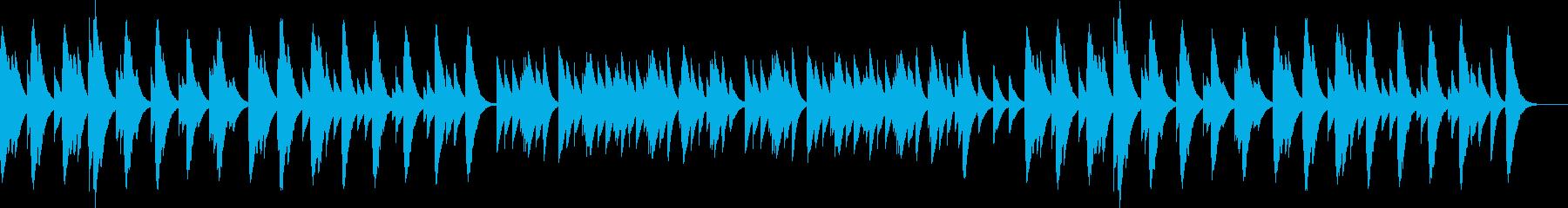 優しくてしんみりするBGMの再生済みの波形