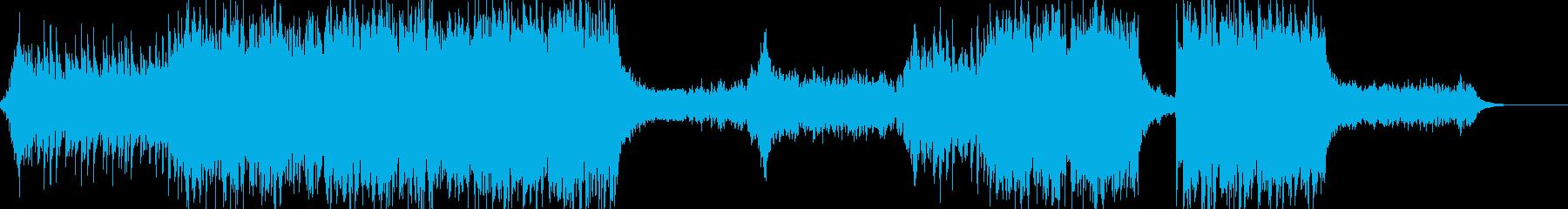 ハリウッド系BGMの再生済みの波形