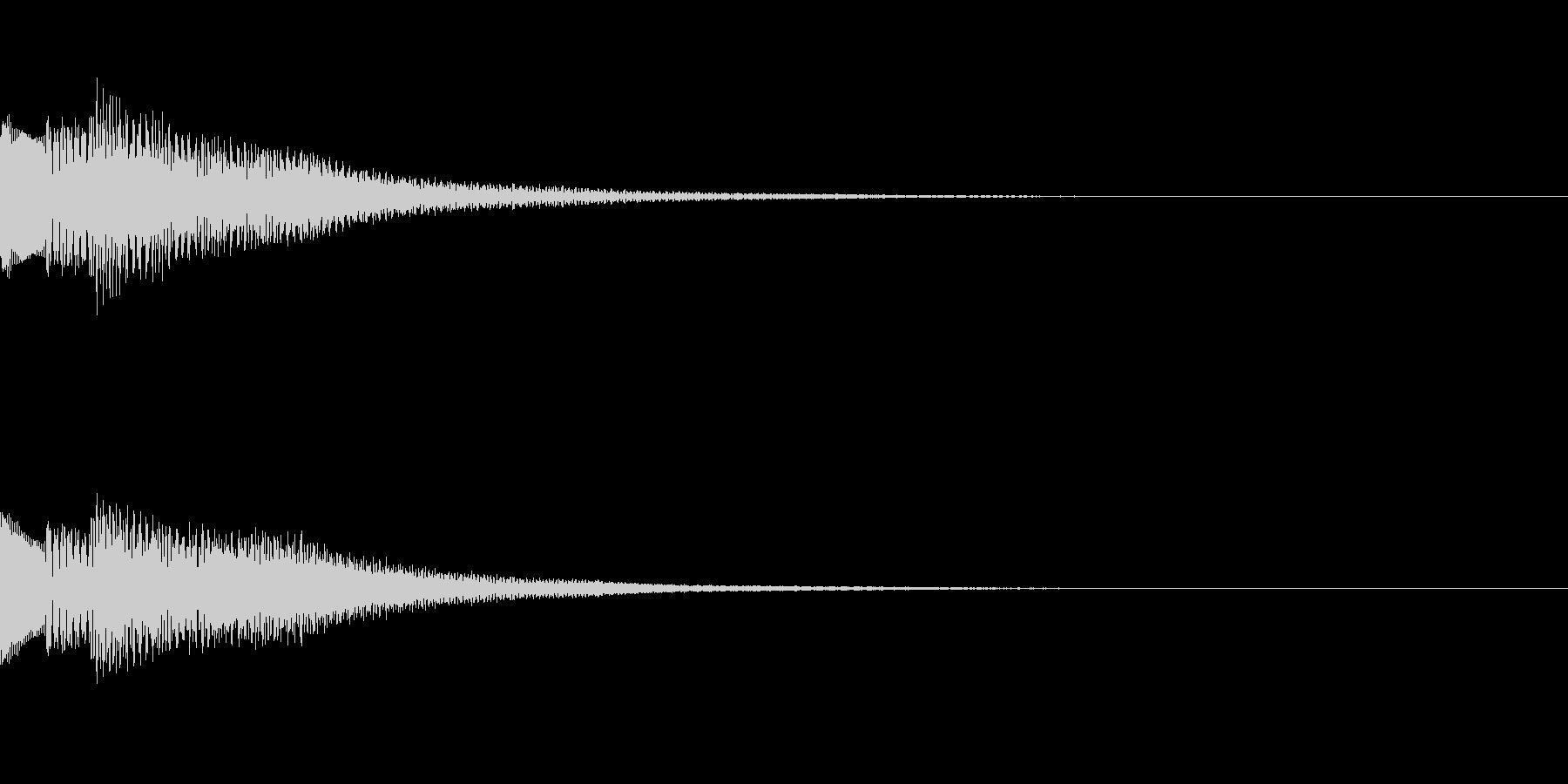 綺麗なボタン音04の未再生の波形
