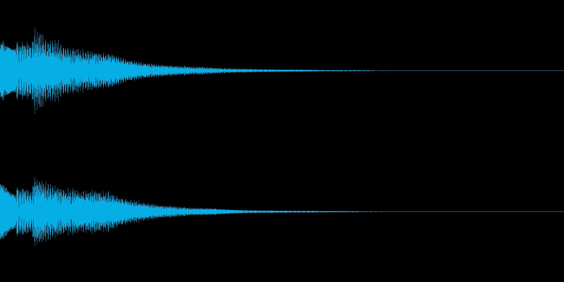 綺麗なボタン音04の再生済みの波形