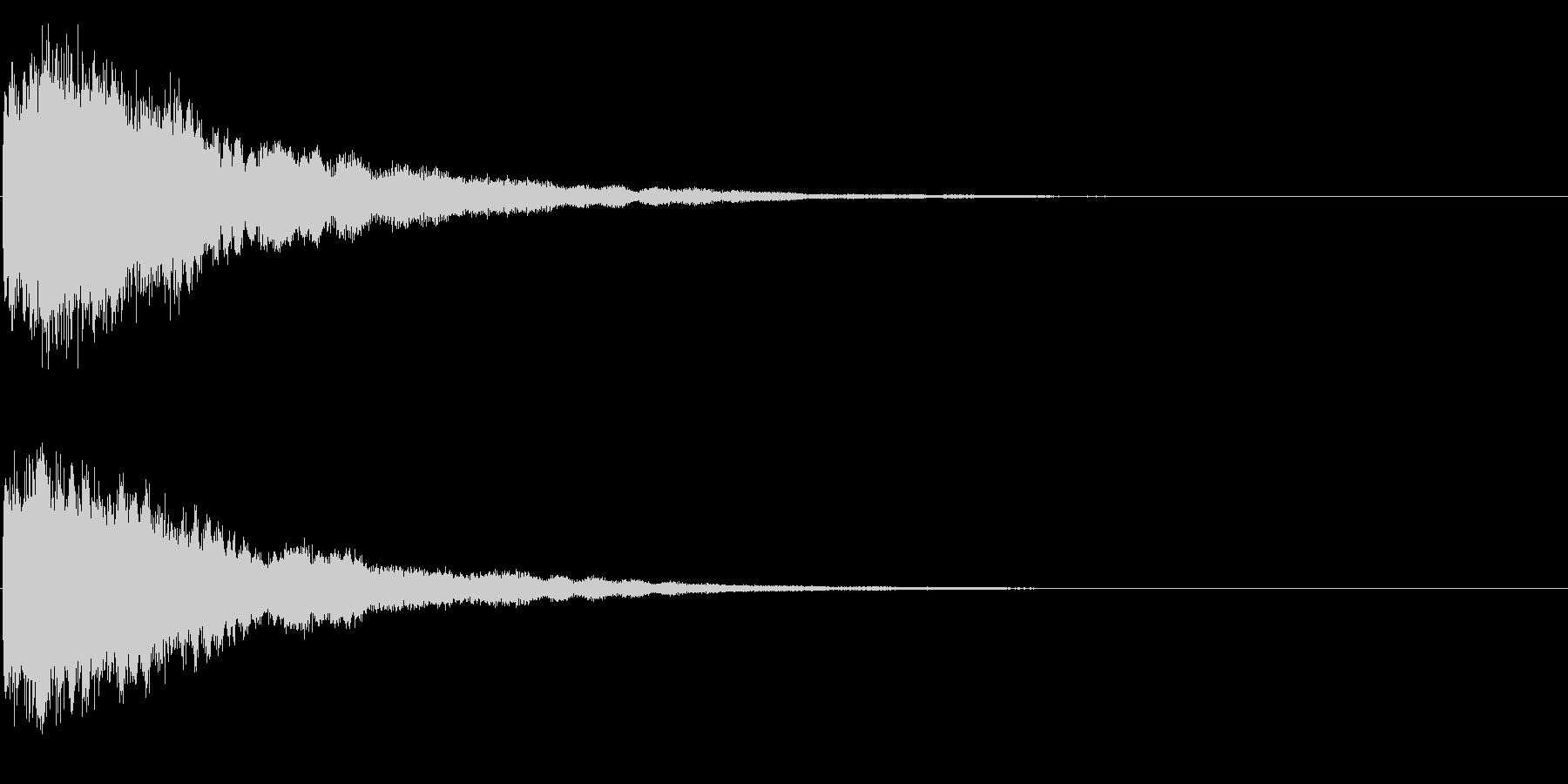 ゲームスタート、決定、ボタン音-127の未再生の波形