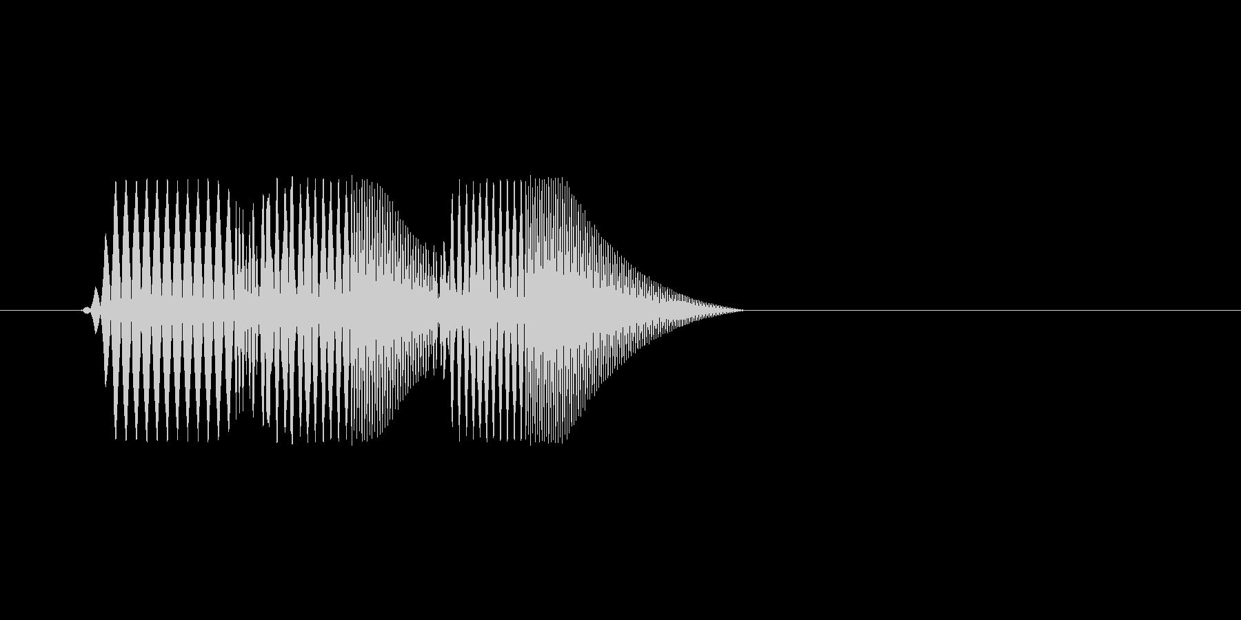 ファミコン風効果音決定音系です 10の未再生の波形