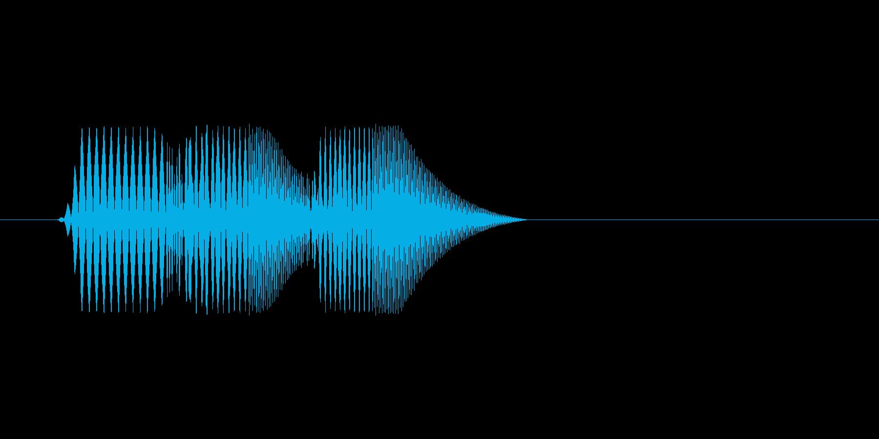 ファミコン風効果音決定音系です 10の再生済みの波形