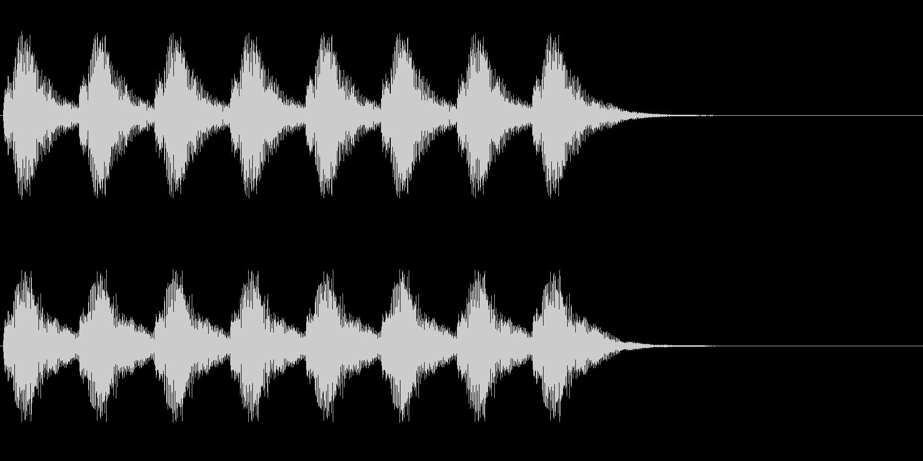 警告・警報・サイレン・ブザー#8(残響)の未再生の波形