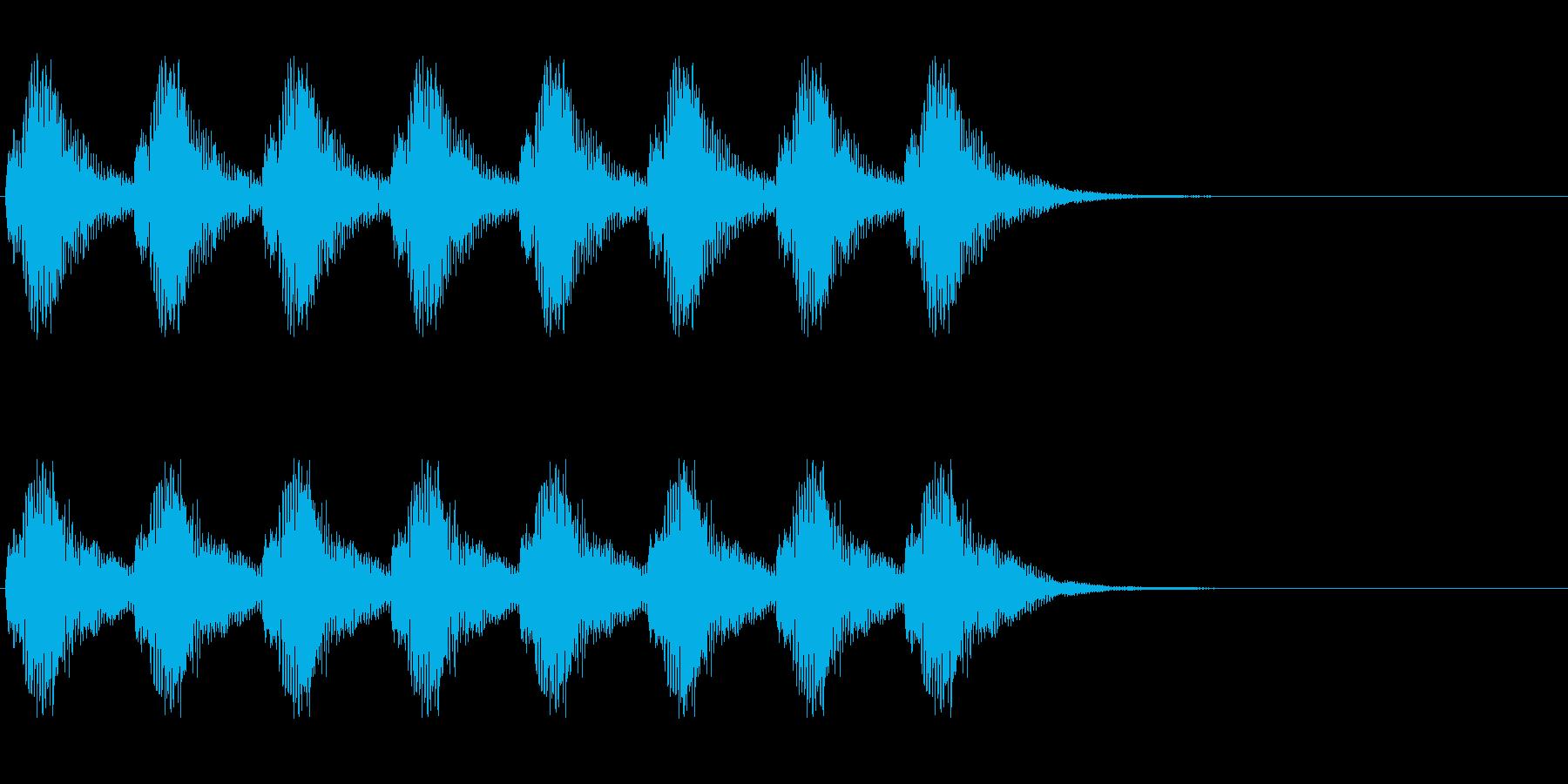 警告・警報・サイレン・ブザー#8(残響)の再生済みの波形