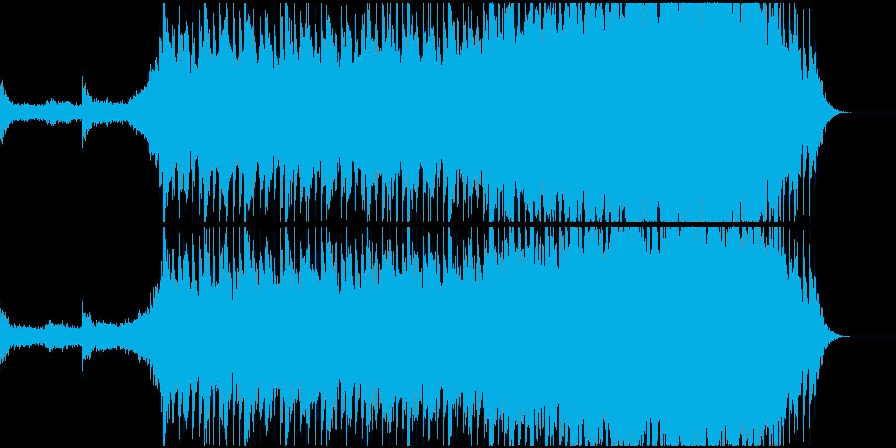 壮大で美しいエンディング曲の再生済みの波形