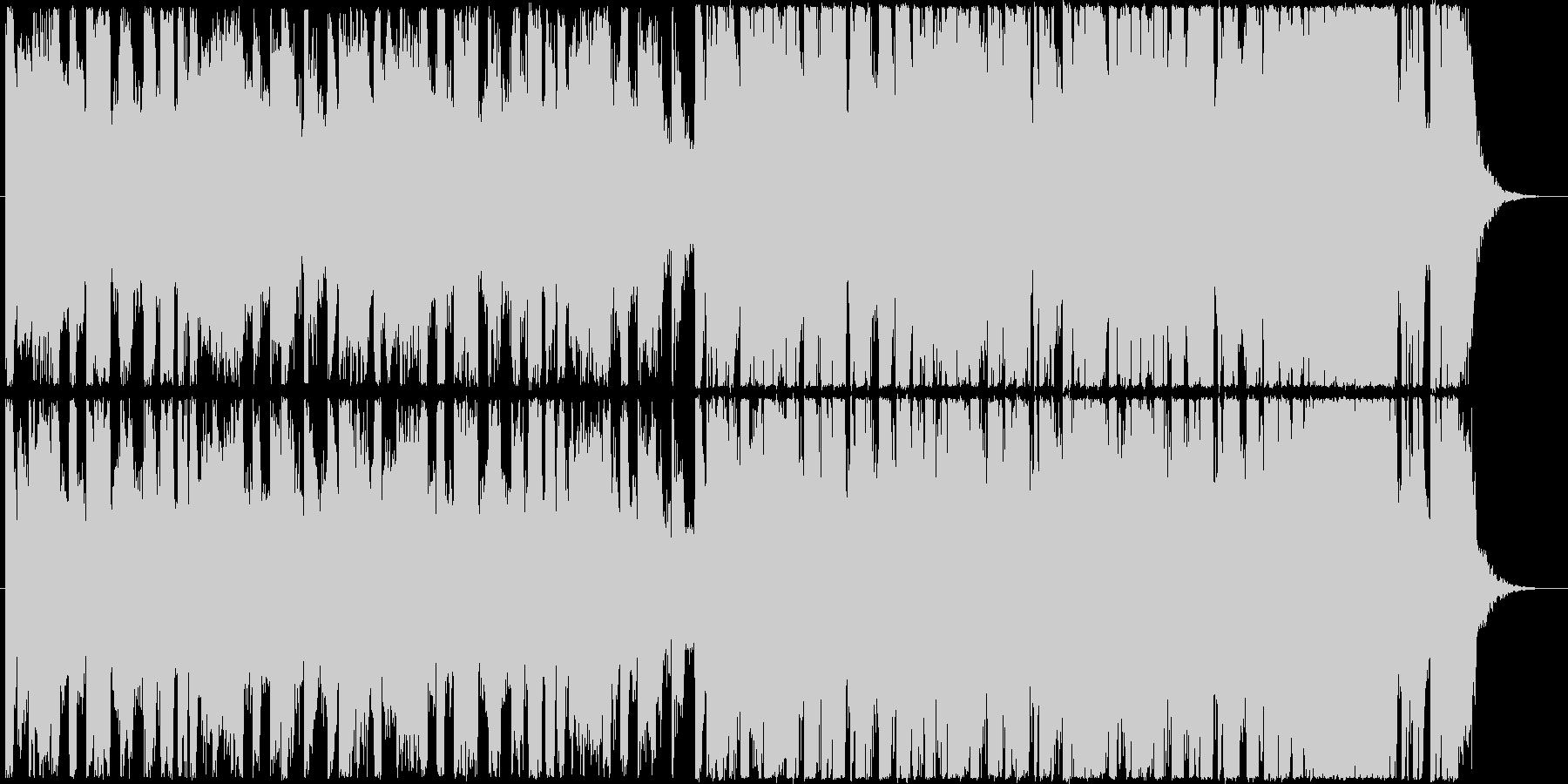 明るくポップな30秒程のノリノリ系BGMの未再生の波形