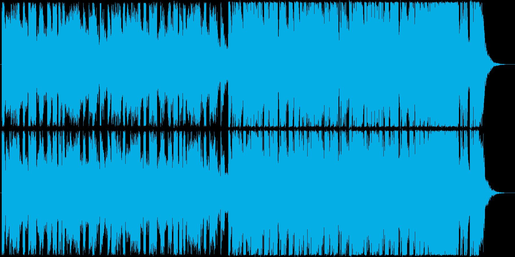 明るくポップな30秒程のノリノリ系BGMの再生済みの波形