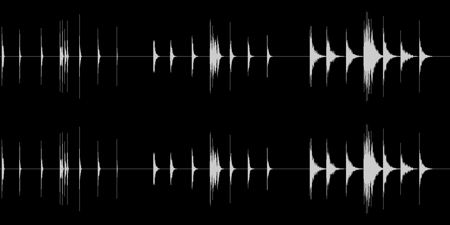ピープ音とビープ音3の未再生の波形