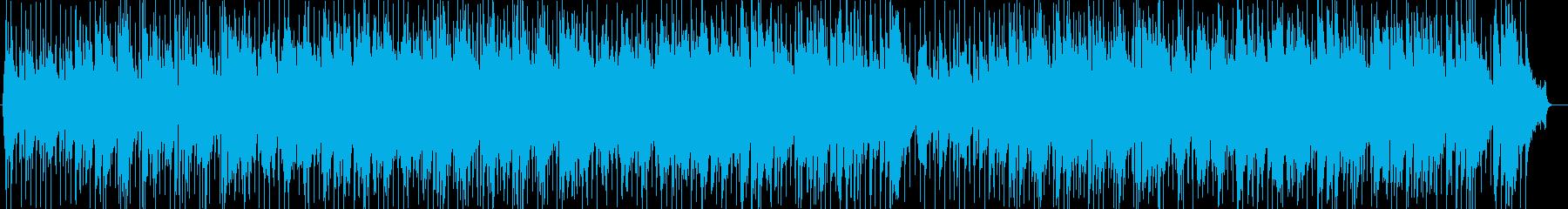 ドライブBGM風シンセサイザー曲の再生済みの波形