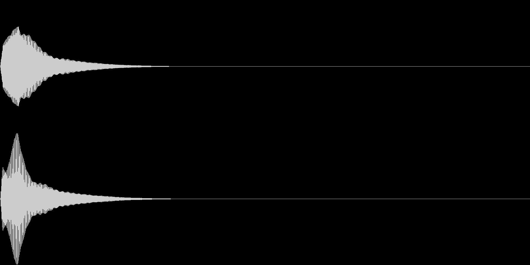 PureTouch アプリ用タッチ音27の未再生の波形