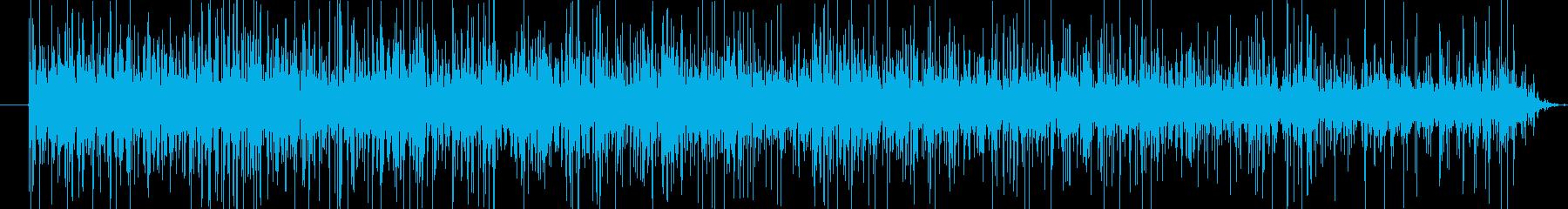 ジュワワーとしっかり揚げ物をする音の再生済みの波形