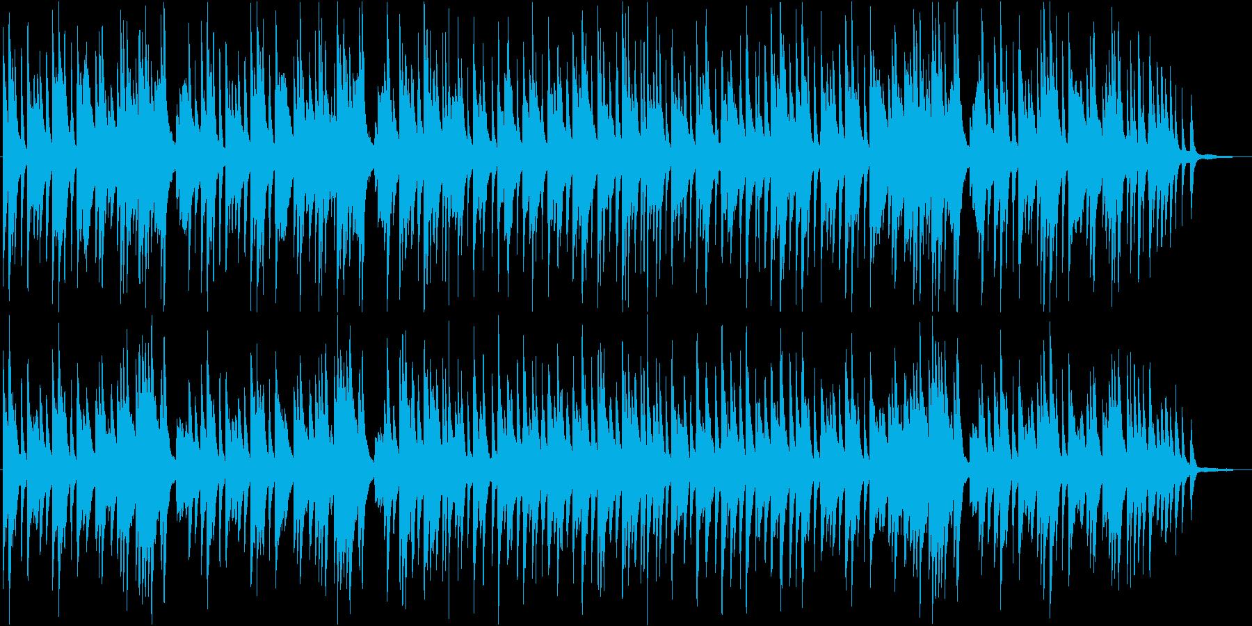 冬の日曜の朝のような雰囲気のピアノBGMの再生済みの波形