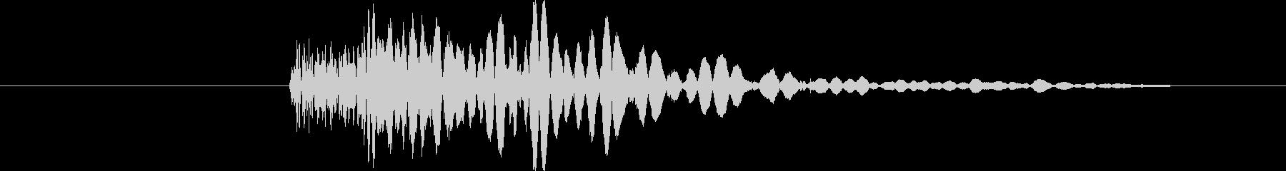 ドゲシっの未再生の波形