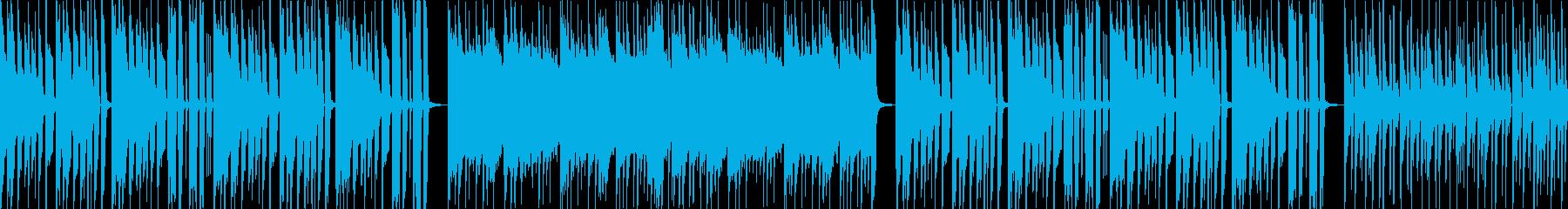軽快でオシャレなインストループの再生済みの波形