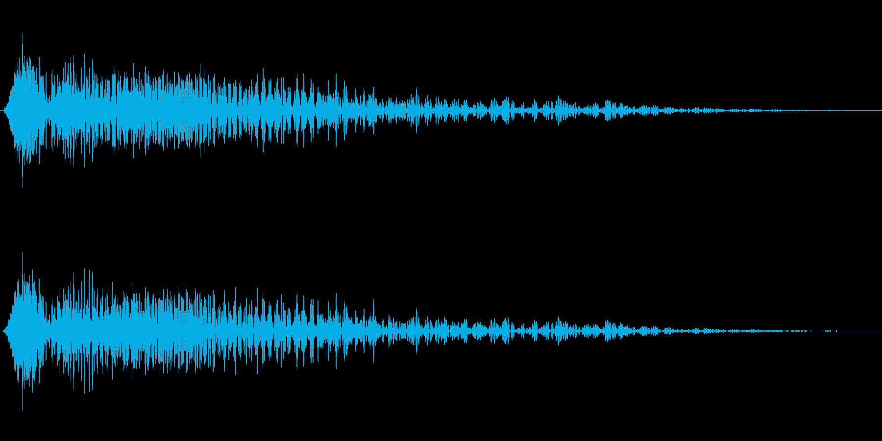 最新映画の定番!SF映画のアクション音の再生済みの波形