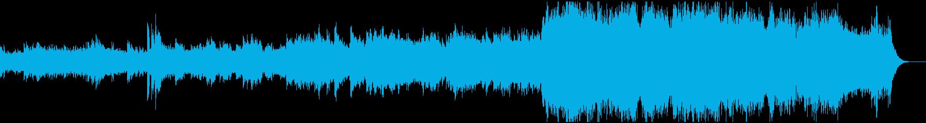 感動シーン向けのオーケストラの再生済みの波形