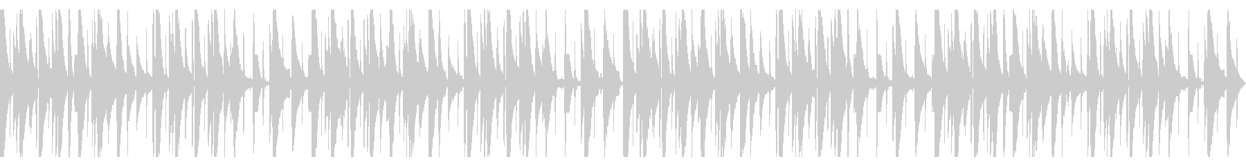 ピアノLofi Hiphop 環境音なしの未再生の波形