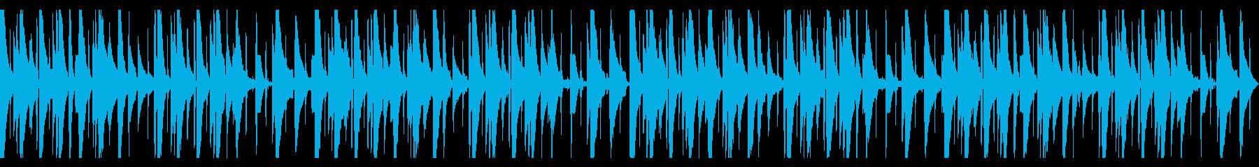 ピアノLofi Hiphop 環境音なしの再生済みの波形
