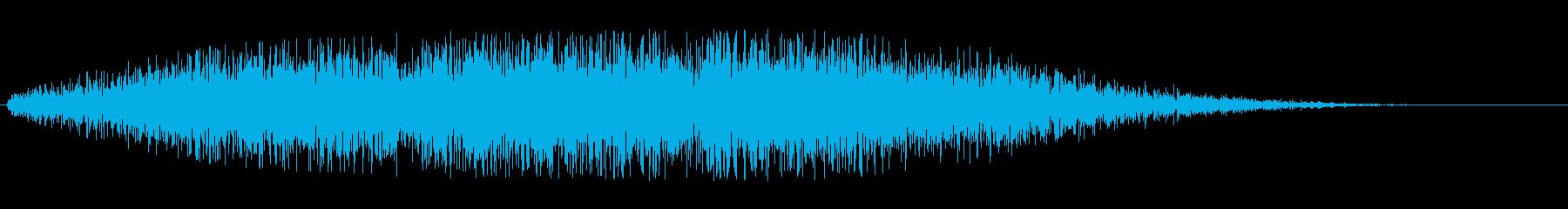 無機質な音(見えない力のはたらきなど)の再生済みの波形