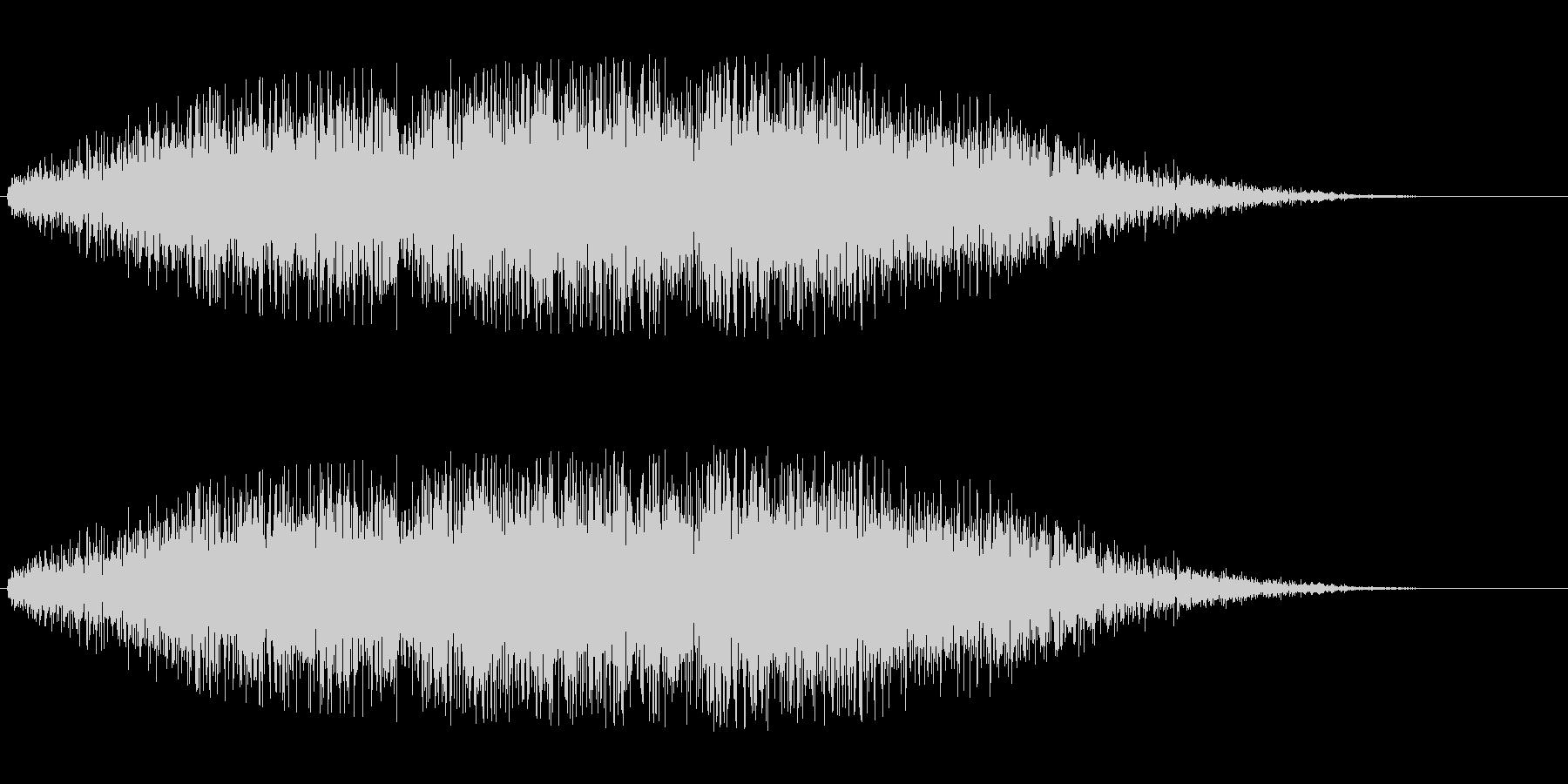 無機質な音(見えない力のはたらきなど)の未再生の波形