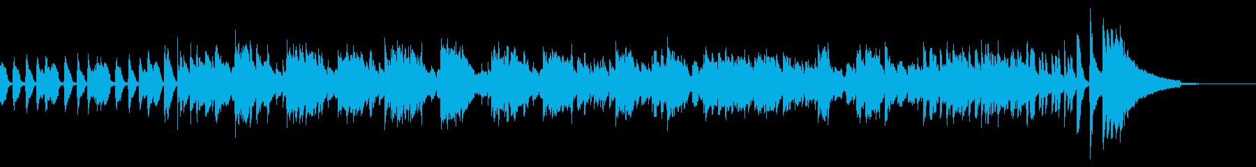 サックスとピアノの軽いジャズ55秒の再生済みの波形