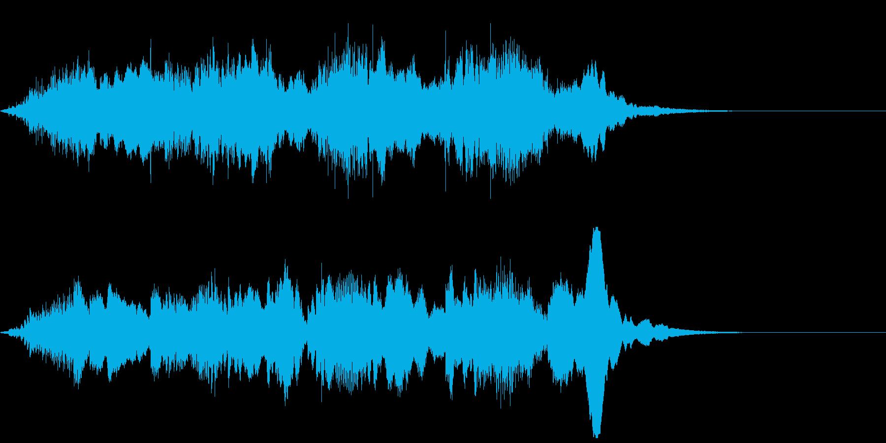 ホラーな演出に 96の再生済みの波形