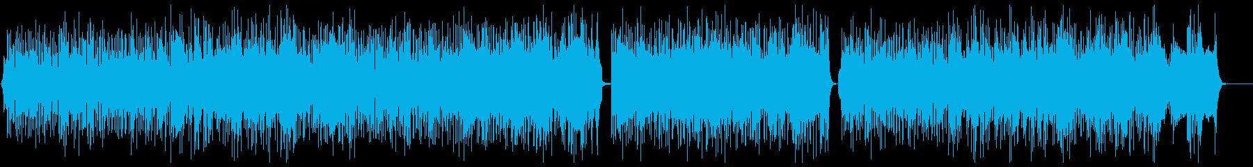 サックス生演奏の軽快なファンクブルースの再生済みの波形