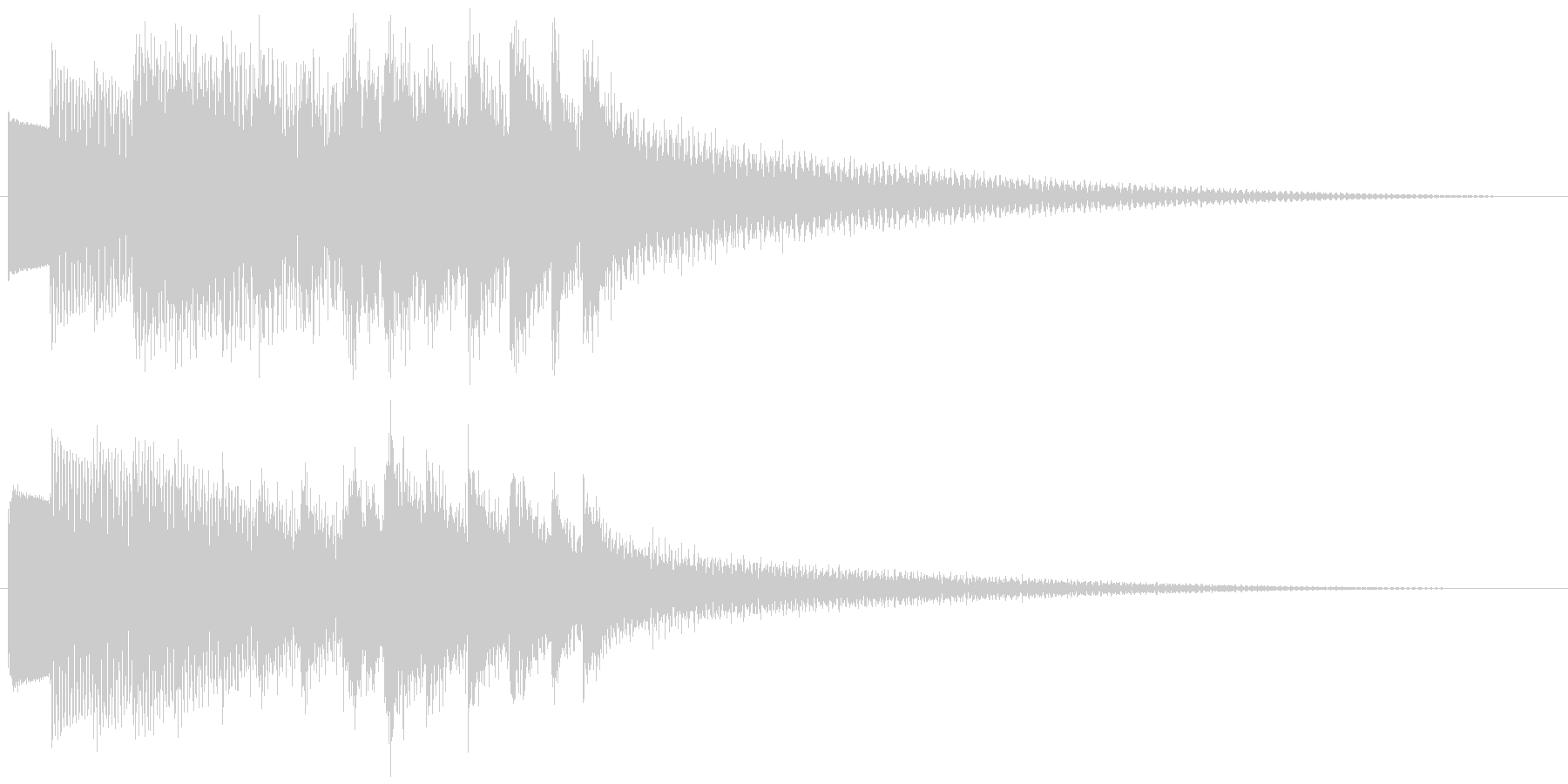 キラキラリーン ゆっくり下降(鉄琴風)の未再生の波形