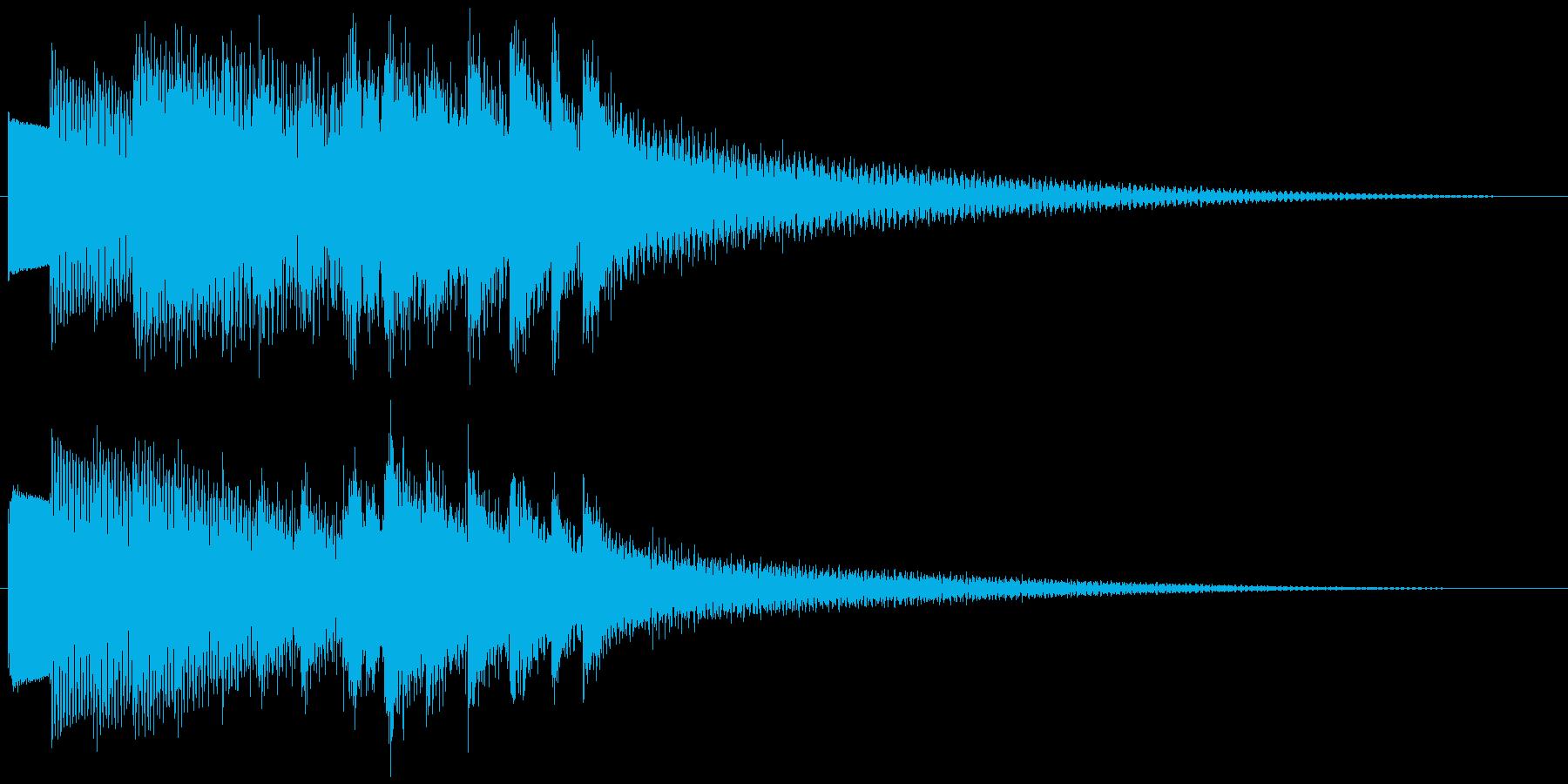 キラキラリーン ゆっくり下降(鉄琴風)の再生済みの波形