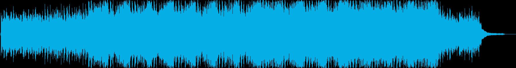 希望に満ちたポジティブな明るい曲 ハーフの再生済みの波形