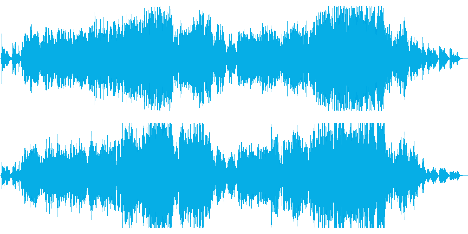 優しいメロディーのドラマチックサウンドの再生済みの波形