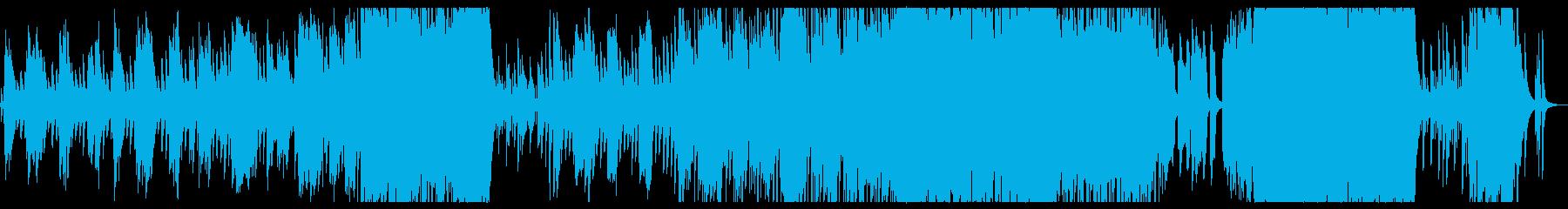夕焼けシーンの卒業ソングの再生済みの波形